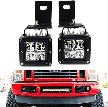 2008 ford f550 6 4 wiring amazon com ijdmtoy led pod light fog lamp kit compatible with  ijdmtoy led pod light fog lamp