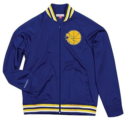 reputable site 46bbc 444df Golden State Warriors Mitchell   Ness Men s  quot Top Prospect quot  Full  Zip Track Jacket