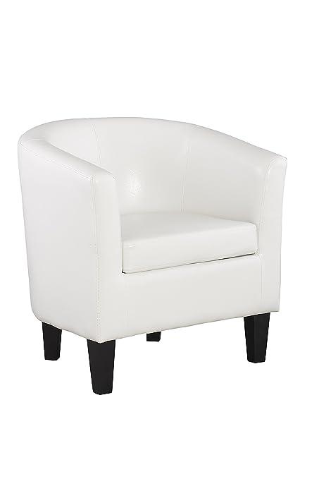 Tub Chair White Armchair   White Tub Chair Leather Faux   White Livingroom  Chair   Living