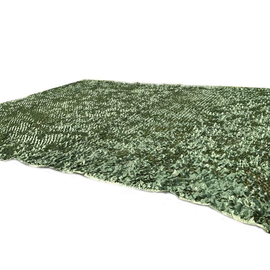 Qjifangwzh Camouflage-Netze, Reine grüne Außenversteckt Camo Netting Camping Cover, Vier Größen