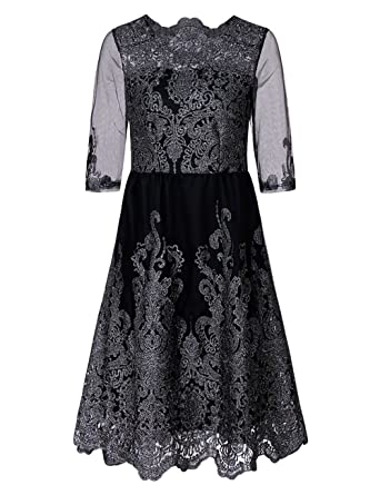 Yyoung Vintage 1920er Jahre Kleid Übergröße Retro Kleid Partykleid ...