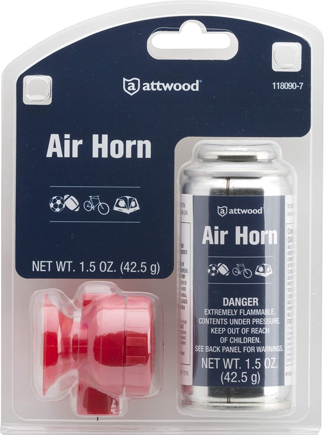 attwood 118090-7 Portable Boat Air Horn 1.5-oz : Sports & Outdoors