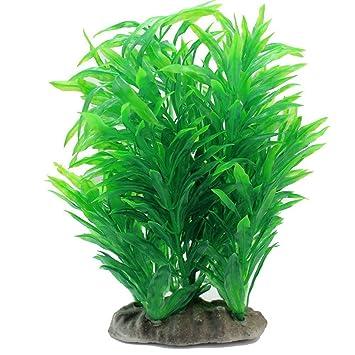 UEETEK Planta de acuario artificial, acuario de agua planta de hoja verde de hierba verde para decoración de tanque de peces: Amazon.es: Electrónica
