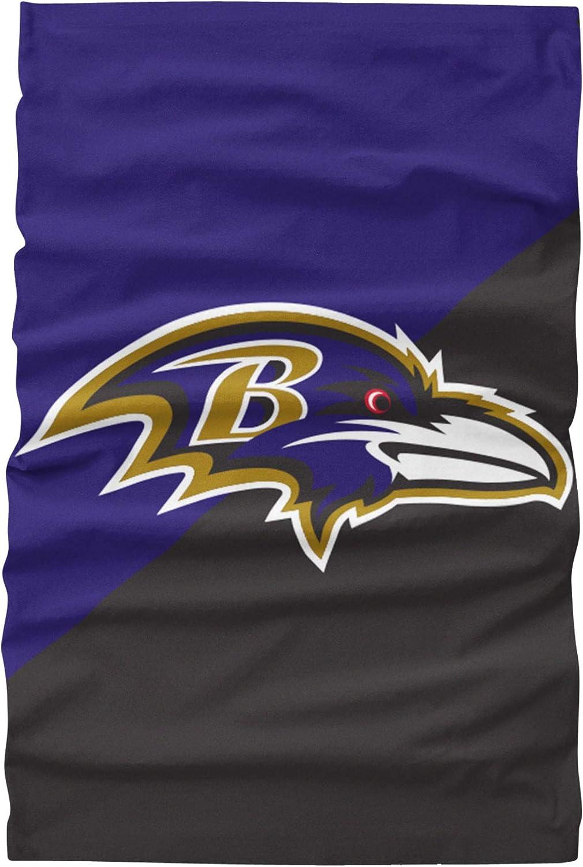 One Size NFL Baltimore Ravens Unisex Face Mask Gaiter Big Logo Team Colors
