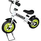 """Goplus 10"""" Kids Balance Bike No-Pedal Learn To Ride Pre Bike Push Walking Bicycle Adjustable Height & Folding Bike Stand with Bell Ring"""