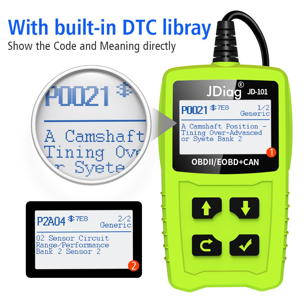 JDiag OBD2 Scanner Auto Check Car Engine Fault Code Reader Enhanced Universal OBD II Classic Diagnostic Scan Tool Suitable for EOBD/CAN Vehicles by JDIAG (Image #3)