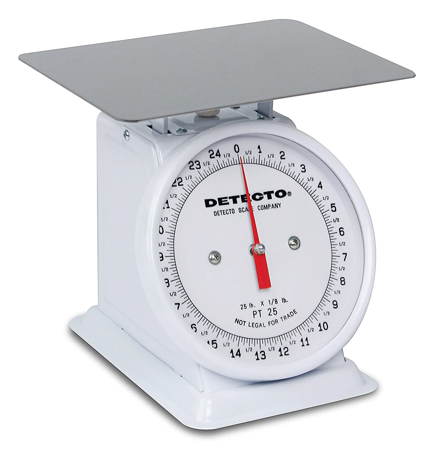 "Detecto PT-25 Top Loading Fixed Dial Scale, 5.75"" x 5.75\"", 25 lb. Capacity 71qGK78afRL._SL1500_"