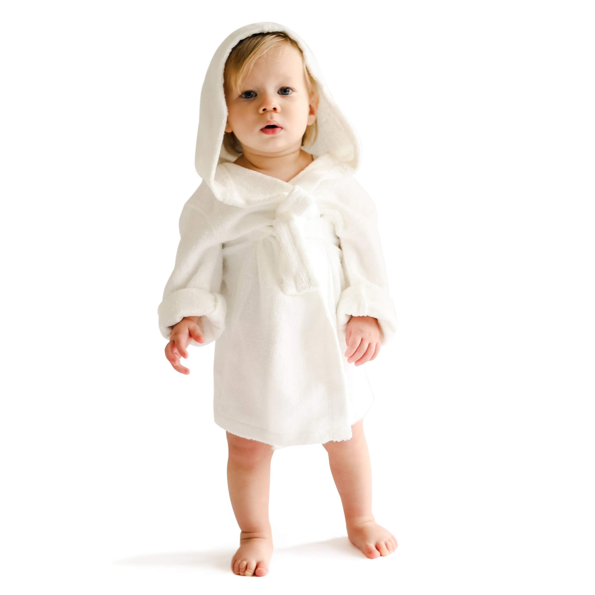 Extra Soft Bamboo Hooded Bathrobe for Kids by Natemia | Super Absorbent and Hypoallergenic | Ideal Baby Registry Gift by Natemia