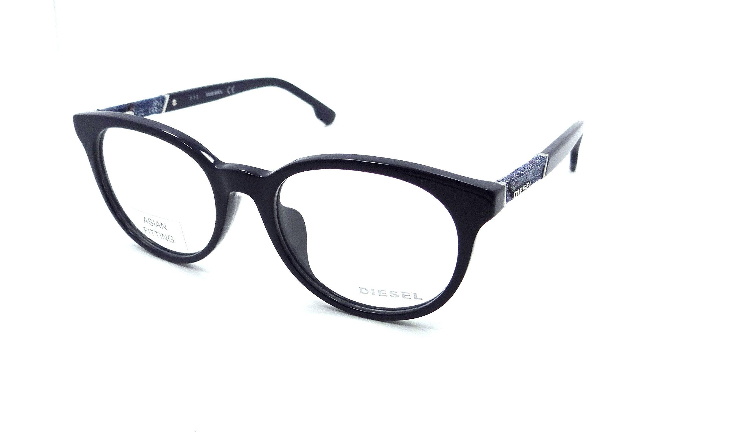 Diesel Rx Eyeglasses Frames DL5156-F 090 54-19-150 Dark Blue / Denim Asian Fit