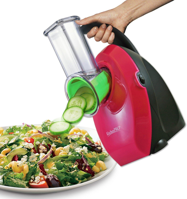 KitchenPRO - Cortador de ensalada eléctrico con mango sin ensuciar: Amazon.es: Hogar