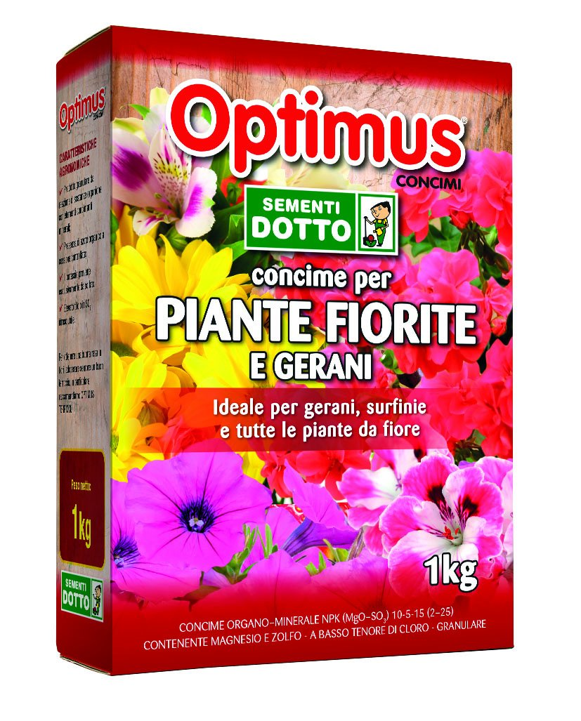 Sdd 50000205 Abono Optimus granulado para plantas florales, verde: Amazon.es: Jardín