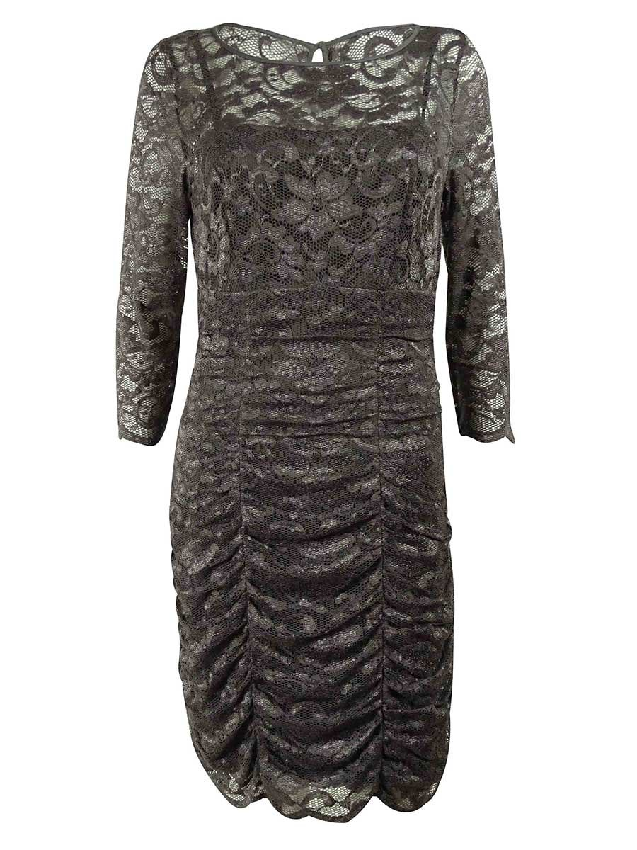 Eliza J 3/4 Sleeve Lace Cocktail Dress Grey (8) by Eliza J