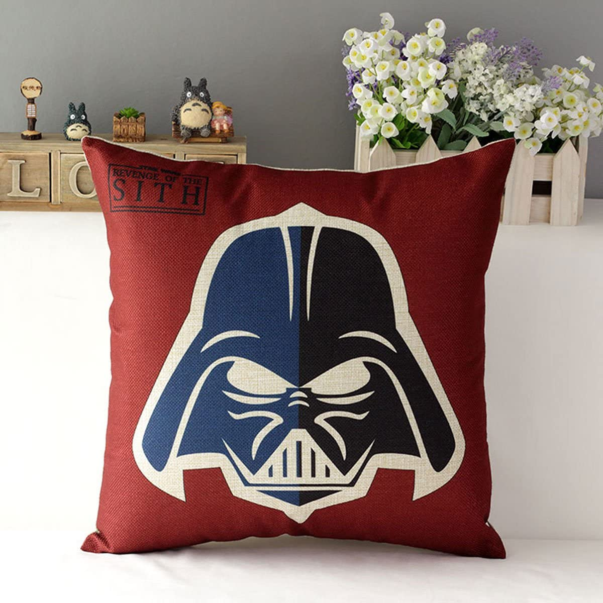 "TavasDecor 17"" Star Wars Home Sofa Chair Couch Decorative Throw Pillow Case Cushion Cover - Darth Vader, Anakin Skywalker"