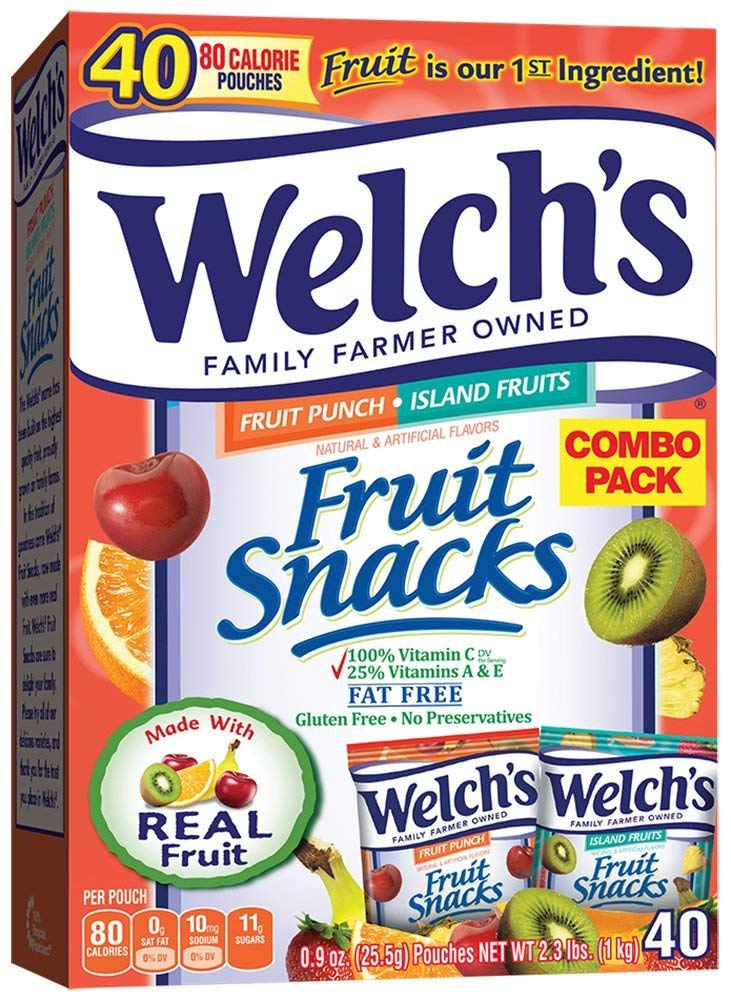 Welch's Fruit Snacks (Fruit Punch & Island Snacks (40 Count)) by Welch's (Image #1)
