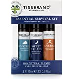 Tisserand Essential Survival Aromatherapy Kit (Containing De-Stress, Sweet Dreams & Energy)