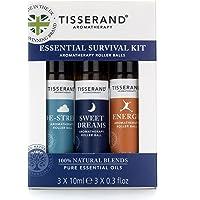 Tisserand Essential Survival Aromatherapy Kit (Containing De-Stress, Sweet Dreams & Energy)