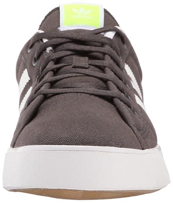 Amazon.com | Adidas Skateboarding Men's Adicourt Stripes Solid  Grey/White/Solar Yellow Sneaker 7.5 D - Medium | Fashion Sneakers