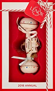 Lenox 2018 Baby's First Christmas Rattle 24 k gold porcelain Ornament Annual Baby collector ornaments New in box