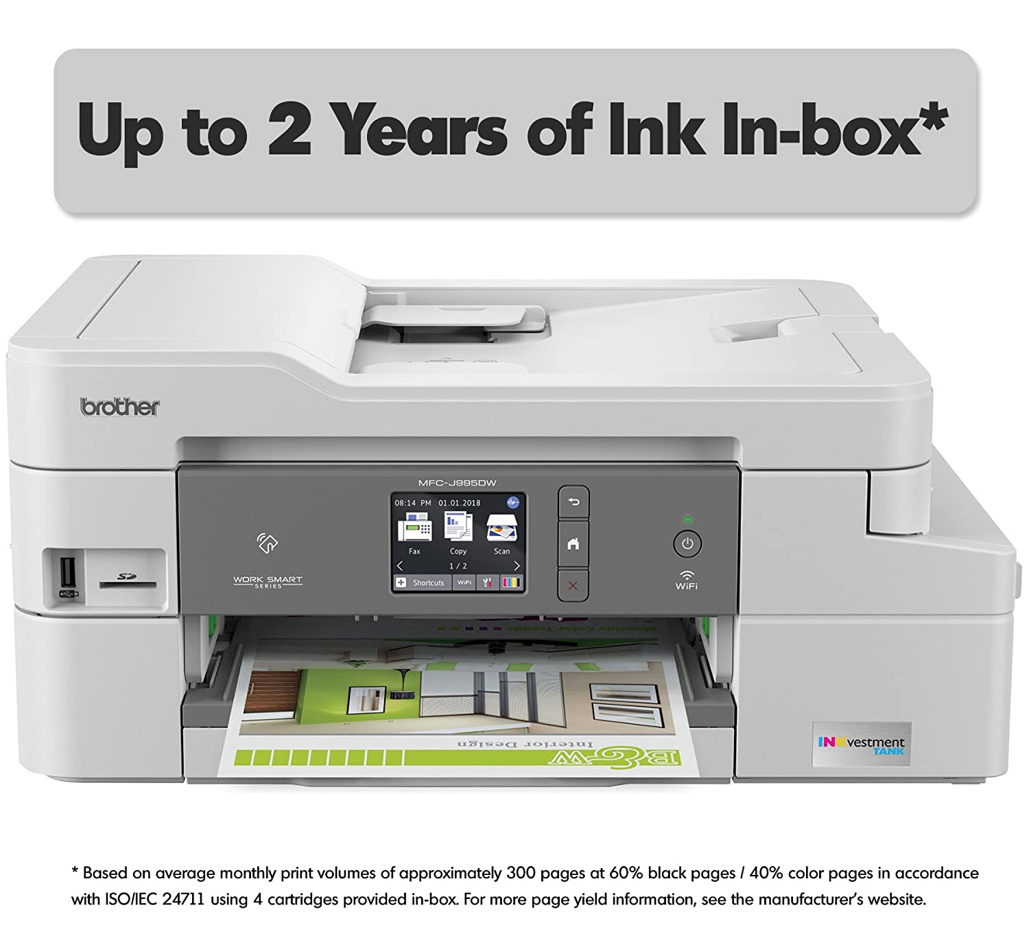 Amazon.com: Brother INKvestmentTank Inkjet Printer, MFC-J995DW XL ...