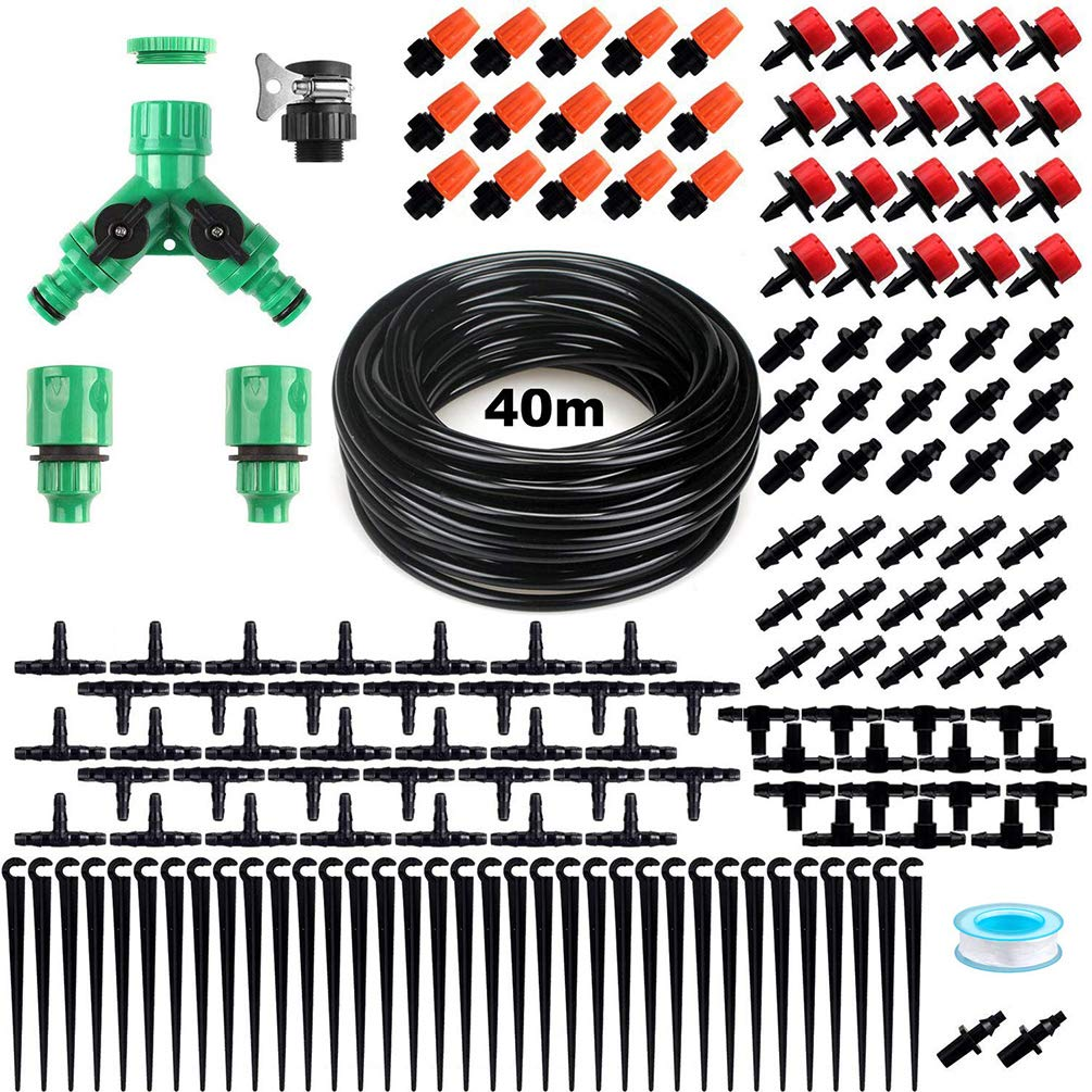40m Hose Automatic Watering Device Dripper Set Irrigation System for Indoor Outdoor Garden Watering by ViVseliy