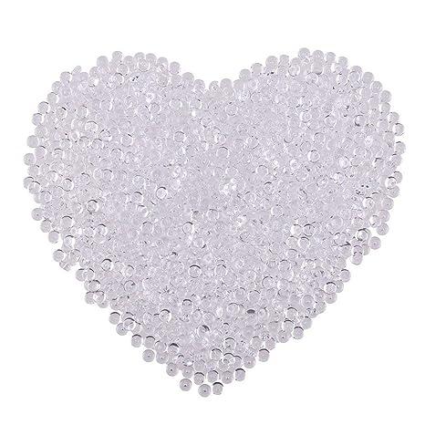 lokipa blanco perlas de Pecera para Slime 120 gramos perlas de peluche para crujientes Slime plástico