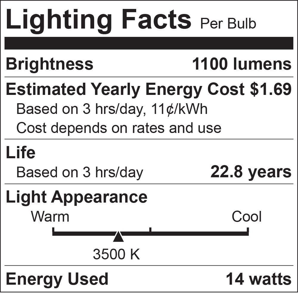 Luxrite BR40 LED Light Bulbs, 85W Equivalent, 3500K Natural White, Dimmable, 1100 Lumen, LED Flood Light Bulb, 14W, E26 Medium Base, Indoor/Outdoor - Perfect for Office and Recessed Lighting (12 Pack) by Luxrite (Image #3)
