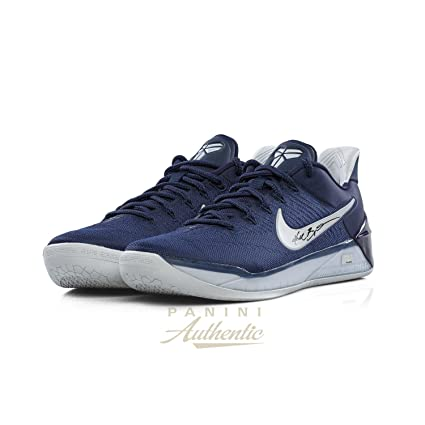 huge discount 21098 ccf3c Kobe Bryant Autographed Navy Blue Nike Kobe A.D. Shoe ~Open Edition Item~ -  Panini