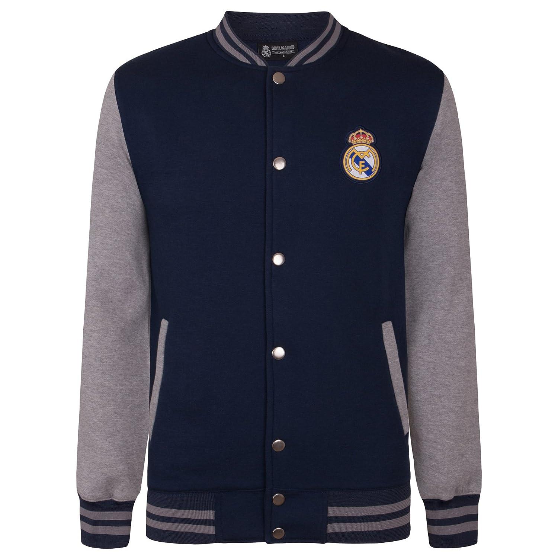 Real Madrid Official Football Gift Boys Retro Varsity Baseball Jacket