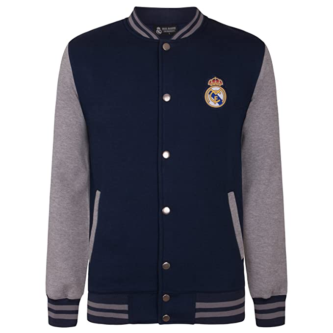 Real Madrid Official Football Gift Mens Retro Varsity ...