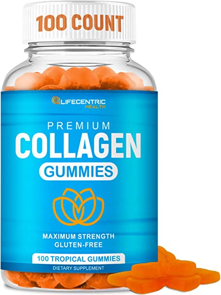 Collagen Gummies for Women and Men   Collagen Supplement for Joint Support Plus Strengthen Your Hair Skin and Nails   100 Count Delicious Tropical Flavor Collagen Supplements for Women and Men
