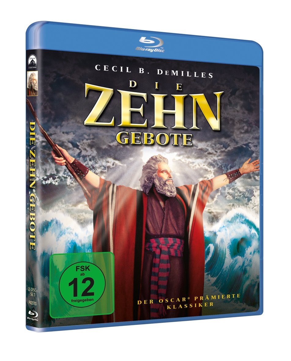 Die zehn Gebote [Blu-ray]: Amazon.de: Charlton Heston, Yul Brynner ...