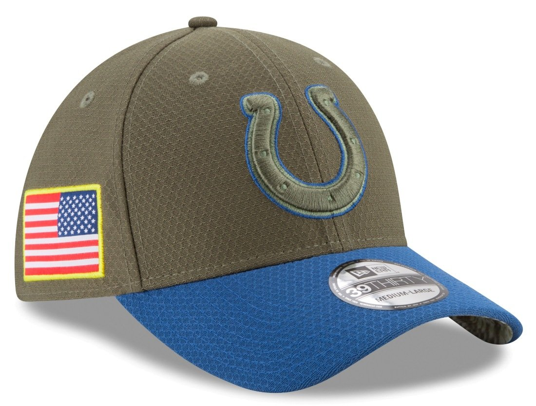 ffc557b2b951a Amazon.com   Indianapolis Colts New Era NFL 39THIRTY 2017 Sideline