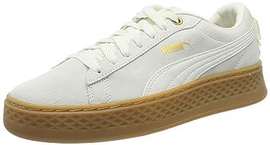 info for 63094 d9146 Puma - Smash Platform Frill - Baskets - Femme - Beige (Whisper White-Puma