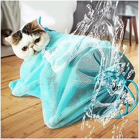 Peng Sheng - Bolsa de Aseo para Gatos para Bañar Uñas, Limpiar los Oídos y Tratar Las Orejas, Bolsa de Malla de poliéster Libre de Arañazos: Amazon.es: Productos para mascotas