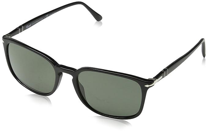 Persol 3158, Gafas de Sol Unisex-Adulto, Black 95/58, 56 ...