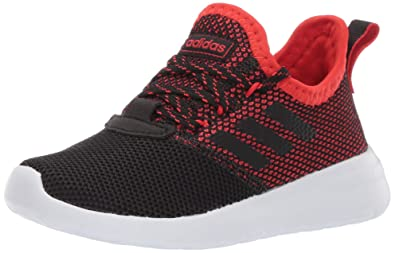 info for 61c89 9d6eb adidas Unisex Lite Racer Reborn, Black Active red, 1 M US Little Kid