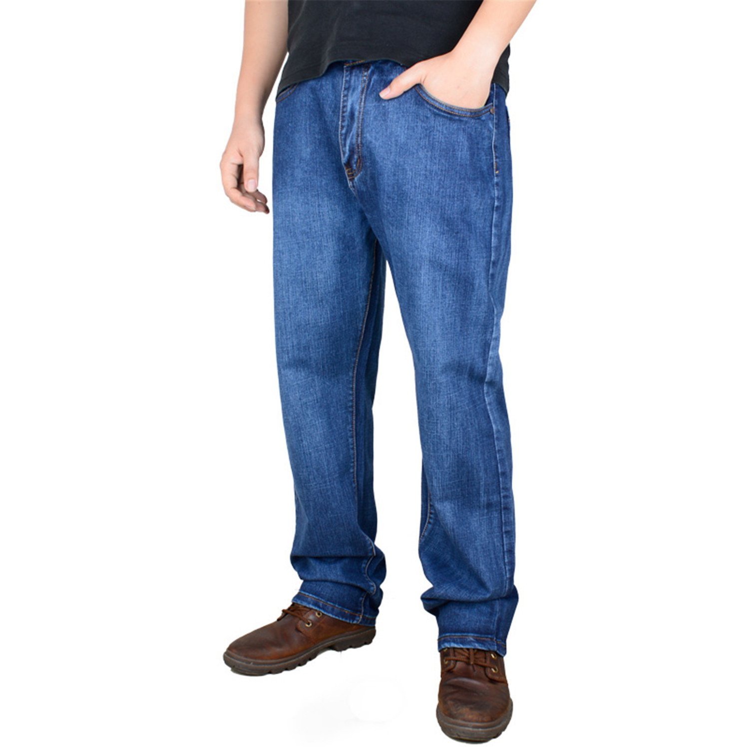 Karl Conner Men Plus Size Pants 38 40 42 44 46 48 50 52 High Stretch Big and Tall Large Trouser Jeans