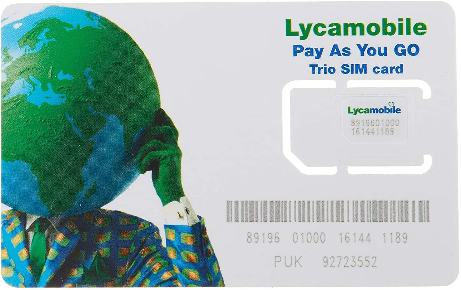 Lycamobile $23 plan pre-loaded sim card with 2 month service