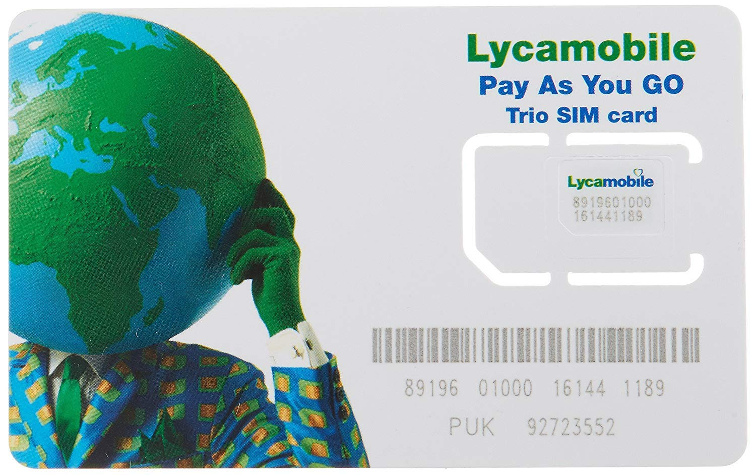 Lycamobile $23 plan preloaded sim card with 2 month service by Lyca Mobile
