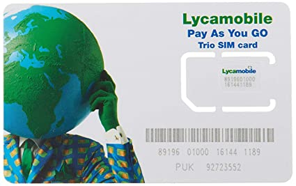 Lycamobile preloaded sim card for USA with 60 days of service