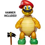 """World of Nintendo 4"""" Odyssey Mario with Cappy Action Figure 4"""" with Hammer"""