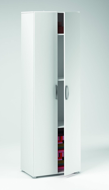Demeyere Cobi Armoire Multifonctions Avec Portes Rayons - Bibliothèque avec porte