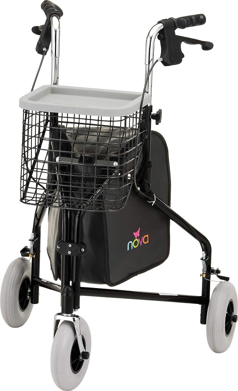 Amazon.com: NOVA Medical Products Traveler 3-Wheel Walker, Black: Health &  Personal Care