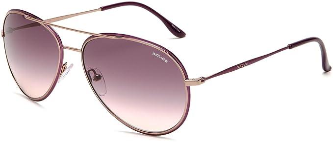 61eaf30925 Policía-Gafas de sol, diseño de aviador S8299 Glory - silver Violet 0H60 58  Medium: Amazon.es: Ropa y accesorios