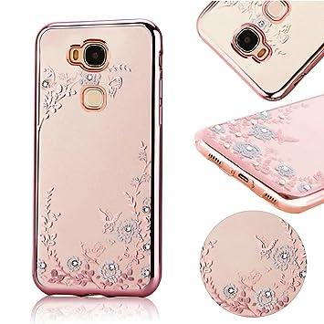 Momdad – Carcasa transparente para Huawei Honor 5X – Carcasa de protección de termoplástico TPU (silicona) ultradelgada, flexible, transparente