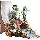 leap frog decorative downspout cover brown - Decorative Downspouts