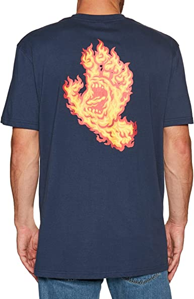 Santa Cruz Flame Hand - Camiseta de manga corta azul marino L: Amazon.es: Ropa y accesorios