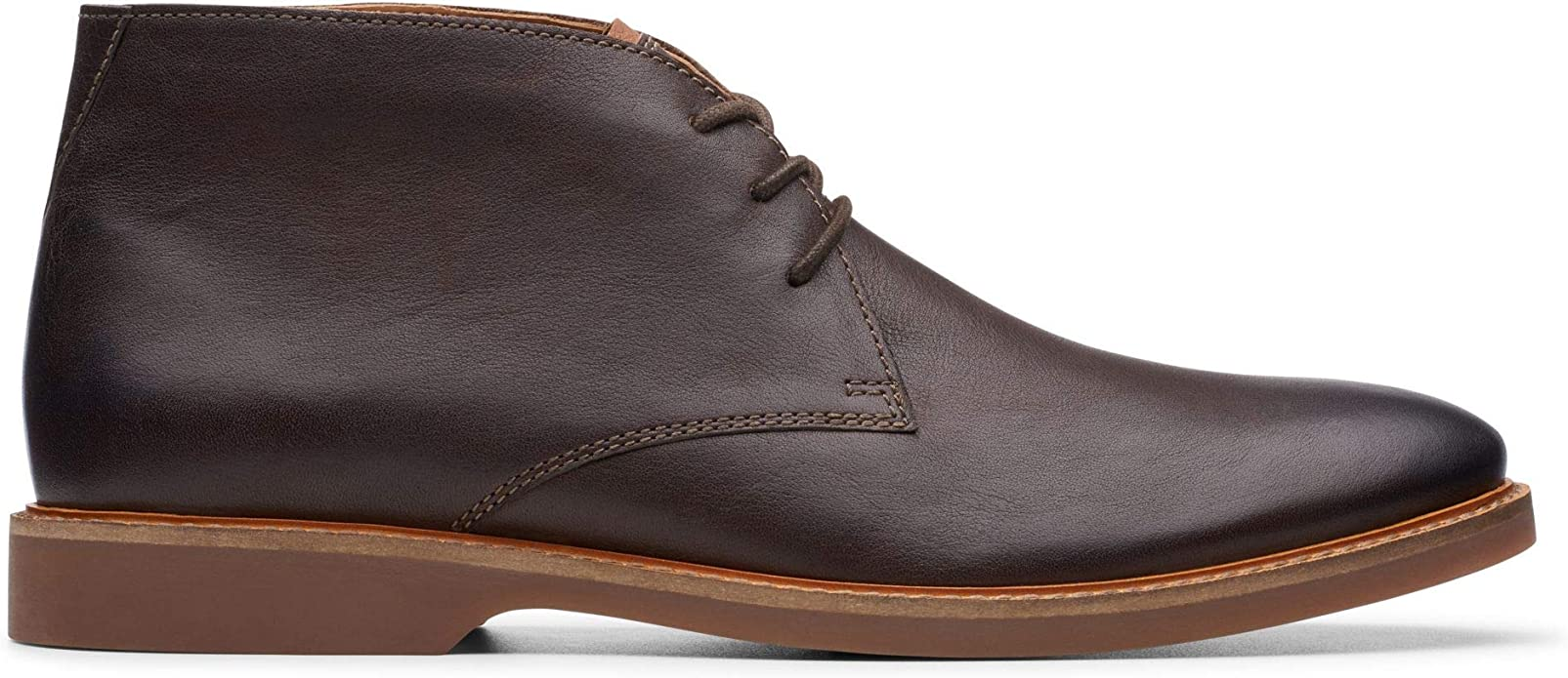 Mens Clarks Atticus Limit Black Nubuck G Fit Lace Up Desert Boots Size