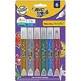 BIC Kids Glitter Glue Metallic Assorted Colours 6 Pack
