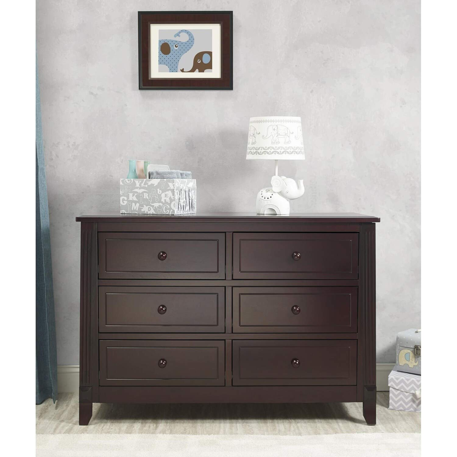 Amazon.com: sorelle Berkley doble dresser-gray, gris: Baby